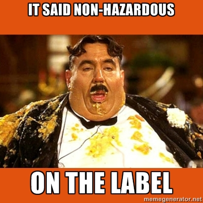 hazardous waste disposal meme