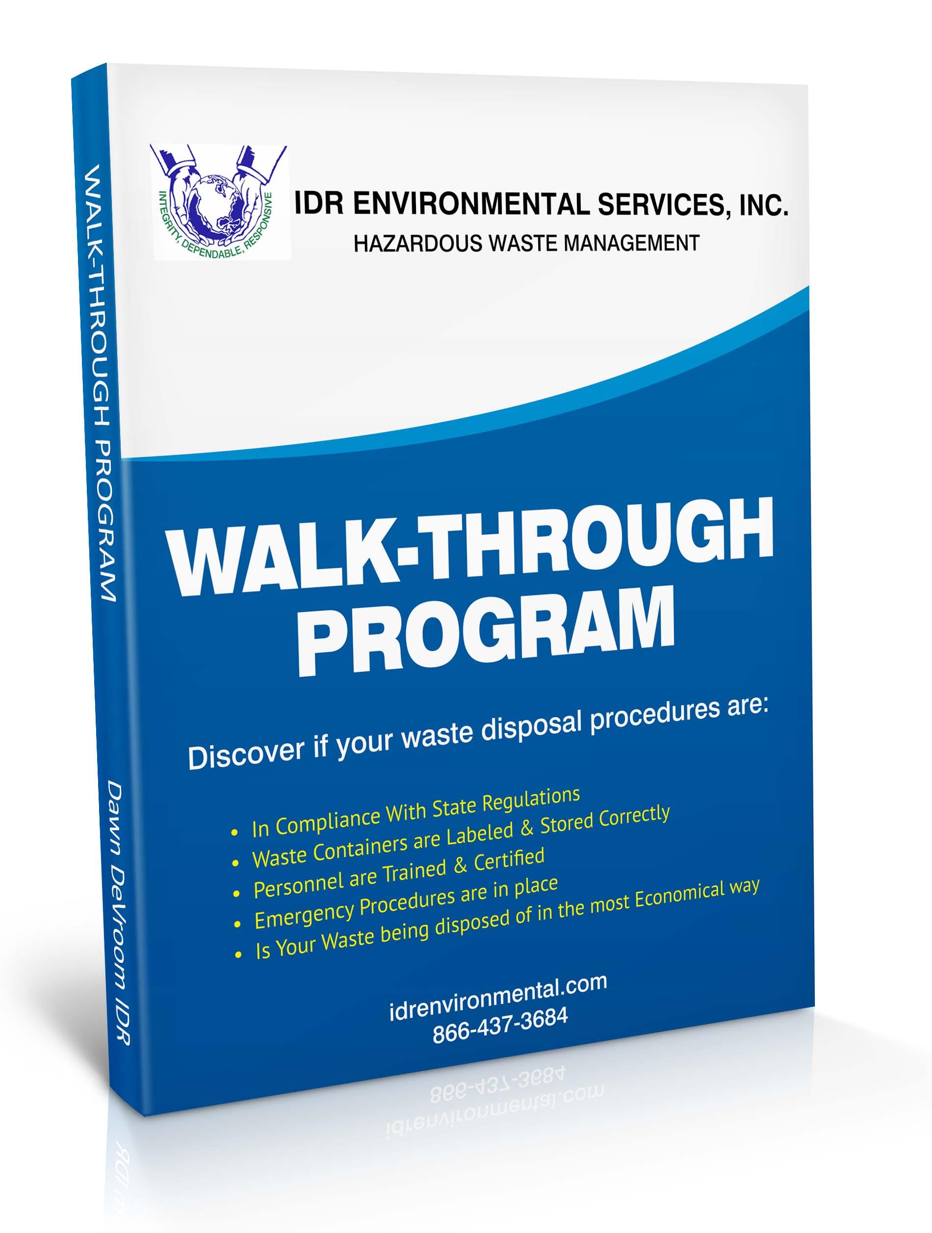 Hazardous watse walk-through