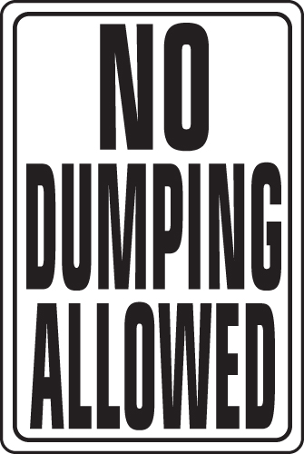 illegal dumping on commercial property