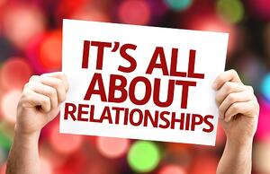 It's All About Relationships card with colorful background with defocused lights.jpeg